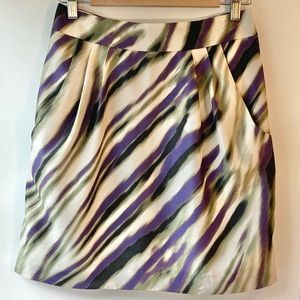 Ann Taylor Patterned Tulip Skirt with Pockets